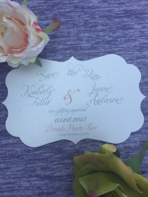 Save The Date Diecut